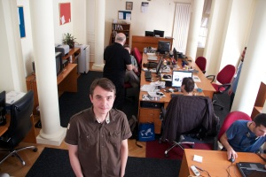 Tomislav in der Redaktion