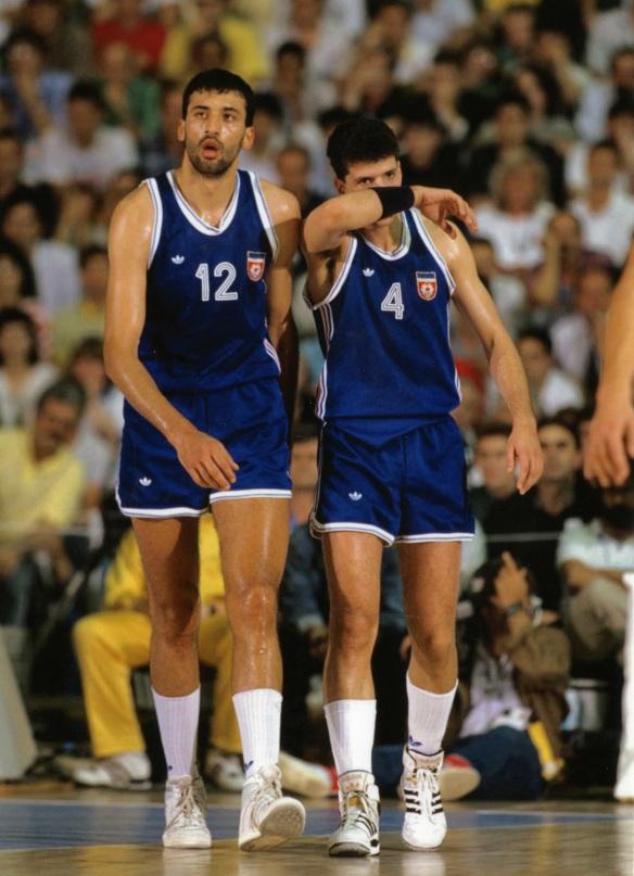 Vlade und Drazen, Zagreb '89 (Foto: Drazen Petrovic Foundation)