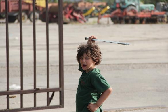 Spielen: Ablenkung in Tovarnik. Foto: Rayna Breuer